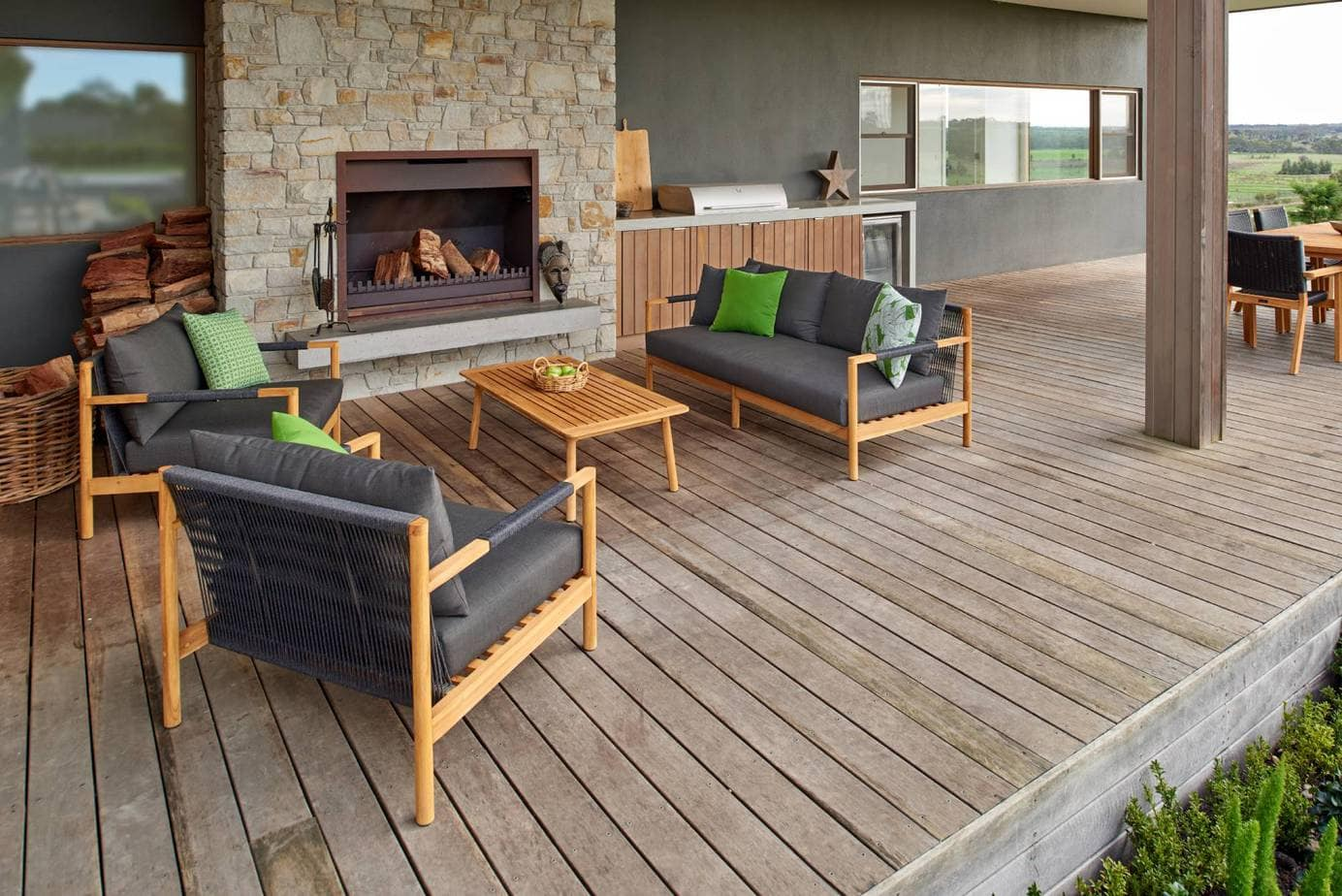 Balmain 4 Piece Outdoor Setting