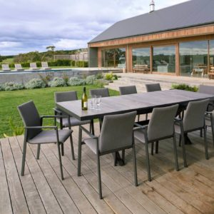 Wentworth Extension Dining Table and Emily Padded Sling Chair