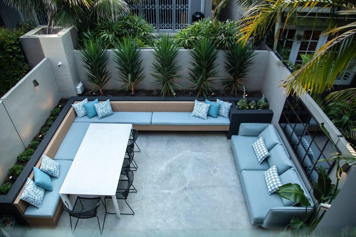 Courtyard garden design - Redfern