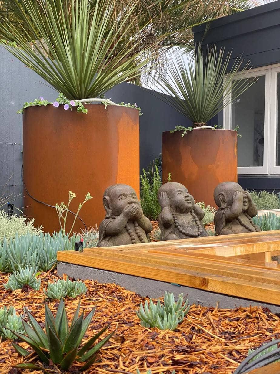 Outdoor coastal pots, landscape designers, eastern suburbs